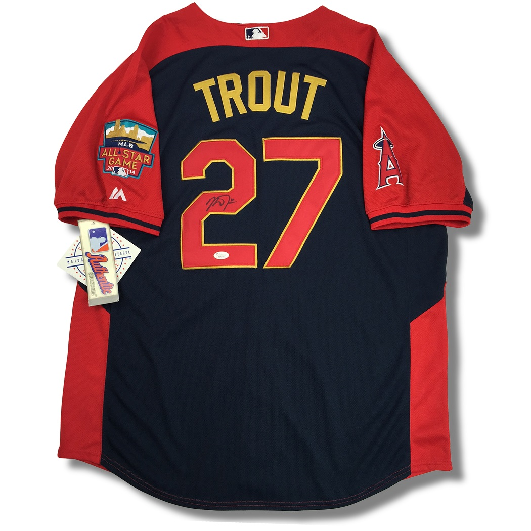 the best attitude 64523 62bf1 Lot Detail - Mike Trout Autographed 2014 Replica MLB All ...