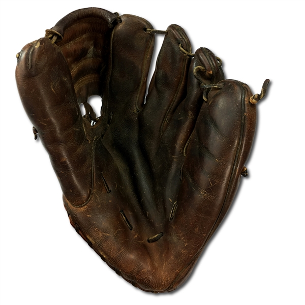 Ted Williams Game Used Fielders Glove Circa 1955 - 1 of Only 2 w/PSA LOA! (PSA, Joe Philips, Heritage, Family LOA)