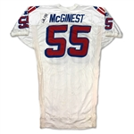 Willie McGinest 1997 New England Patriots Game Used & Signed Road Jersey - Incredible Use & Repairs