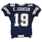 Keyshawn Johnson 2004 Dallas Cowboys Game Used & Signed Jersey - Good Wear