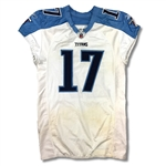 Damian Williams 2010 Tennessee Titans Game Used Road Jersey