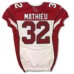 Tyrann Mathieu 10/5/2014 Game Used Arizona Cardinals Road Jersey - Photo Matched (NFL Auctions)