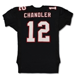 Chris Chandler 10/14/2001 Atlanta Falcons Game Used Home Jersey - 268yds 2TDs, Photo Matched (RGU)