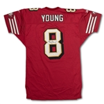 Steve Young 10/12/97 San Francisco 49ers Game Used & Signed Jersey - 3 TDs! Photo Matched! Unwashed (RGU)