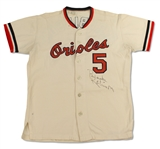 Brooks Robinson 1971 Baltimore Orioles WORLD SERIES Game Used Jersey - Photo Matched (MEARS A10,Hunt,RGU)