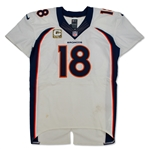 Peyton Manning 11/24/13 Denver Broncos Game Used Jersey vs Pats - Photo Matched, Camo Patch (Panini,RGU)