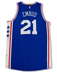 Joel Embiid 1/16/17 Philadelphia 76ers Game Used Rookie Jersey - Photo Matched (Fanatics,76ers,RGU)