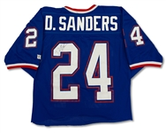 Deion Sanders 1993 NFC Pro Bowl Game Used & Signed Jersey - Solid Wear (Family LOA)