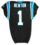 Cam Newton 11/8/15 Carolina Panthers Game Used Jersey - 4 TDs!, Repair, MVP Season, Photo Matched, Camo Patch (RGU)