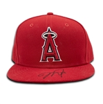 "Mike Trout 2017 Los Angeles Angels Game Used & Signed Baseball Hat - Handwritten ""27"" (JSA LOA)"