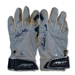 Carlos Correa 2105 Game Used & Dual Signed Nike Batting Gloves- Rookie Year (Correa Sr. LOA)