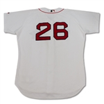 Ramiro Mendoza Boston Red Sox Game Used & Signed Home Jersey (Mendoza LOA)