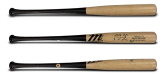 Kevin Kiermaier 2016 Game Used & Signed Marucci AP5-M Model Bat & T-Shirt (Kiermaier LOA)