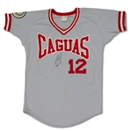 "Ivan ""Pudge"" Rodriguez Game Used Caguas Puerto Rican League Jersey (Player LOA)"