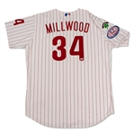 Kevin Millwood 2004 Philadelphia Phillies Game Used & Signed Jersey (Schneider Collection)
