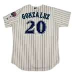 Luis Gonzalez Arizona Diamondbacks Game Used & Signed Jersey (Schneider Collection)