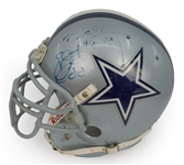Darren Woodson 98 Cowboys Game Used & Team Signed Photo Matched Helmet - 6 Sigs total, JSA LOA (J.Anderson Collection)