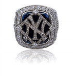 2009 New York Yankees World Series Ring - 14kt White Gold w/Original Presentation Box - Coach/Player