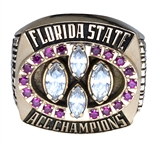 1995 Florida State Seminoles ACC Championship Ring - 10kt Gold - Player Ring