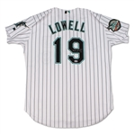 Mike Lowell 2004 Florida Marlins Game Used & Signed Jersey (Schneider Collection)