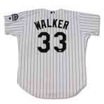 Larry Walker Colorado Rockies Game Used & Signed Jersey (Schneider Collection)