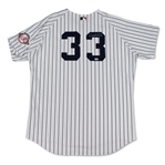David Wells 2003 New York Yankees Game Used & Jersey - 100th Anniv. Patch (Schneider Collection)