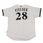Prince Fielder Milwaukee Brewers Game Used & Signed Jersey (Schneider Collection)