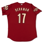 Lance Berkman 2004 Houston Astos Game Used & Signed Jersey (Schneider Collection)