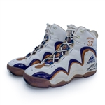 Karl Malone 1998 NBA Finals Game Used & Signed Sneakers - MJs Final Shot - Photo Matched (RGU, J.Anderson LOA)