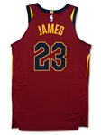 LeBron James 11/13/17 Clevelend Cavaliers Game Used Jersey - 23 Points, 12 Assists, 9 Rebounds, Photo Matched, (NBA, Meigray LOA)