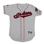 Pat Borders 1998 Cleveland Indians Game Used & Signed Jersey
