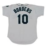 Pat Borders 2003 Seattle Mariners Game Used & Signed Jersey