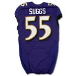 Terrell Suggs 2013 Baltimore Ravens Game Used Home Jersey (NFL Auctions)