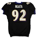 Haloti Ngata 12/19/2010 Baltimore Ravens Game Used Jersey - Photo Matched (Ravens LOA)
