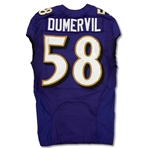 Elvis Dumervil 2013 Baltimore Ravens Game Used Jersey (NFL Auctions)