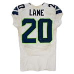 Jeremy Lane 9/1/2016 Seattle Seahawks Game Used Road Jersey