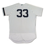 Greg Bird 10/1/2017 New York Yankees Game Used Rookie Pinstripe Jersey - Photo Matched, 3 Home Runs! (Steiner, MLB Auth)
