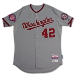 Bryce Harper 4/15/2015 Nationals Game Used Jackie Robinson Day Jersey - Photo Matched, MVP Year (MLB Auth)