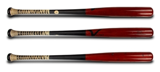 "Bryce Harper 2016 Victus Custom Model AA6 Professional Model Bat - Pine Tar, ""100"" Emoji on Knob"