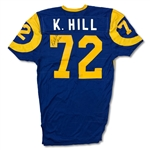 Lot of 2 - Kent Hill & Doug France Los Angeles Rams Game Used Jersey - Great Use Pro Bowl Lineman