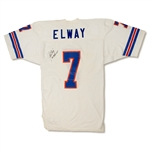 John Elway 1985-86 Denver Broncos Game Used & Signed Road Jersey (MEARS A9)