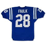 Marshall Faulk 1995 Indianapolis Colts Game Used Home Jersey - Repairs, Great Wear (MEARS 7.5)