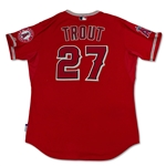 "Mike Trout 5/15/14 Angels Game Used ""1st Career Walk Off"" Home Run Jersey - Photo Matched! 24 Games! 5 HRs! MVP! (MLB Auth/Anderson/Sports Investors)"