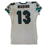 Dan Marino 8/4/1997 Miami Dolphins Game Used Road Jersey - Unwashed, Dirty (Fanatics/Marino COA)