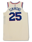 Ben Simmons 2017-18 Philadelphia 76ers Game Used Rookie Jersey - 2 Games! Photo Matched (Fanatics)