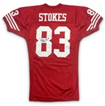 JJ Stokes 1995 San Francisco 49ers Game Worn & Signed Home Jersey