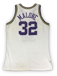 Karl Malone Photo Matched 1994-95 Utah Jazz Game Worn Home Jersey *RARE* - 25 Points 10 Rebs, Season Long Wear! (RGU LOA)