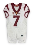 Steven Mitchell 9/4/2016 Game Worn USC Trojans Road Jersey - vs. Alabama, Photo Matched
