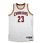 LeBron James Photo Matched 2014-15 Cleveland Cavaliers Game Worn Home Jersey (NBA/Meigray/MEARS A10 LOA)