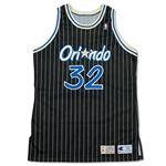 Shaquille ONeal 1992-93 Orlando Magic Game Worn Rookie Home Jersey - Tremendous Wear (MEARS A10/BUCKS LOA)